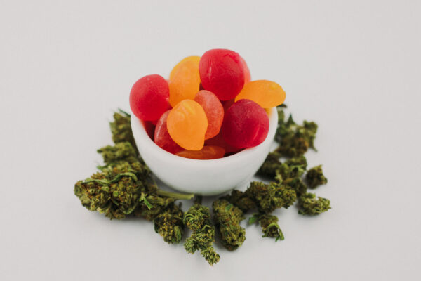 Herbal Root Collective gummies with flower